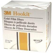 "3M 00963 9 Hookit 5"" 180 Grit Film Sanding Discs, Gold"