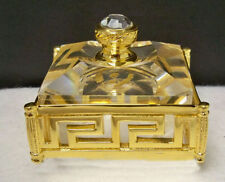 Swarovski * GREEK KEY Trinket Box * GOLD Ver. * ExTrEmElY RaRe *
