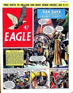 EAGLE - 4th JANUARY 1957 (2 - 8 Jan) RARE 65th BIRTHDAY GIFT !! VG+ beano wizard