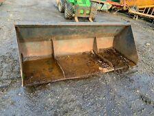 """2 metre / 6'6"""" tractor foreloader / front bucket...pins / quicke no7....£250+VAT"""