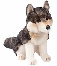 """Douglas Atka SITTING WOLF 11"""" Plush Stuffed Animal Cuddle Toy NEW"""