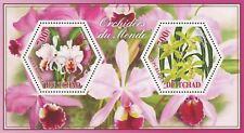 Orchid Flower Cattleya Cymbidium Souvenir Sheet of 2 Stamps Mint NH