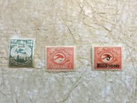 3 Germany  Danzig 1920's UNC 25 M 500,000 over print 5 million Mark lot