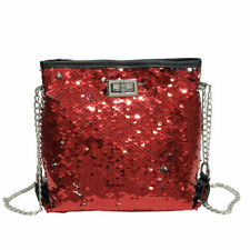 Women Bling Sequin Evening Clutch Purse Hand Bags Cross Body Chain Shoulder Bag