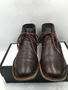 UGG Australia 3275 Leighton Chukka Boots Brown Leather 2-Eye Lace Up Men's Sz 12
