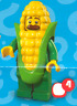 Lego 71018 Minifiguren Serie 17 - Nr. 4 - Mann im Maiskolbenkostüm
