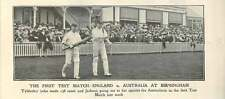 1902 First Test Match At Birmingham Tyldesley And Jackson Going To Bat
