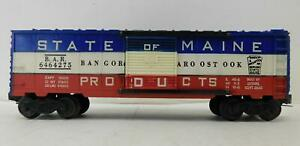 LIONEL 'O' POST-WAR 6464-275 STATE OF MAINE BOX CAR
