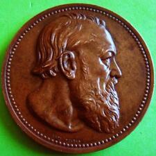 Literature Belgian Author Hendrik Conscience 1881 Bronze Medal by LEOPOLD WIENER
