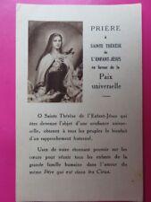 171 - Image - Prière à Ste Thérèse - Approuvé par l'Evêque de Bayeux et Lisieux