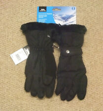 NEW TRESPASS  GEM  LADIES  SKI  GLOVES BLACK (MEDIUM)