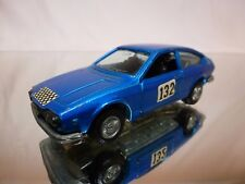 MERCURY 306 ALFA ROMEO ALFETTA GT RALLY #132 - BLUE METALLIC 1:43 - GOOD COND.