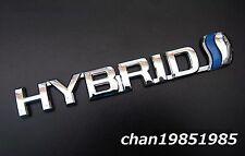 3D HYBRID Blue Fender Chrome Emblem Badge Decal For Toyota Honda Lexus Prius
