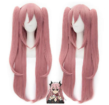 Seraph of the End Krul Tepes Cosplay Wig Pink Hair Wigs with Ponytails
