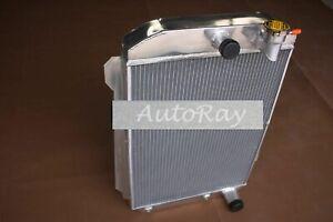 56MM Aluminum Radiator for Chevy Hot/Street Rod 350 5.7 V8 W/Tranny Cooler 1939