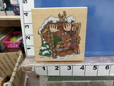 moose camp outhouse rubber stamps 7u