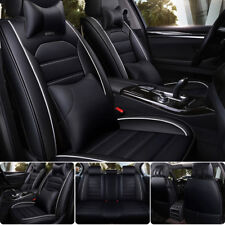 Car Seat Cover Cushion 5-Seat Front Rear w/Pillows Kit Luxury Deluxe Edition US