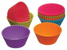 12PCS Muffin Silicone Cake Cup Baking Bakeware Mold Chocolate Cupcake Kitchen To