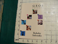 vintage video game item: GEOS products catalog Berkeley Softworks 16pg COMMODORE