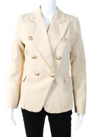 Lioness Womens Pointed Lapel Double Breasted Palermo Blazer Nude Beige Small