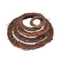 10~30cm Xmas Natural Dried Rattan Wreath Xmas Garland Door Wall Decor Pop TK