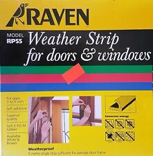 NEW Raven 5m Brown Door and Window Weather Strip MODEL 3 - 6MM RP55 Free Post
