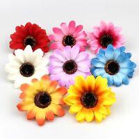 10-100pcs Silk Sunflower Artificial Fake Flower Heads Wedding Bouquet DIY Decor