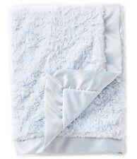 Edgehill Collection Baby boy   Satin-Trim Super Soft Plush  Blanket - Blue