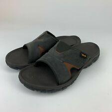 Teva Mens Katavi 2 Brown Bungee Cord Outdoor Slide Slippers Sandals Size 11