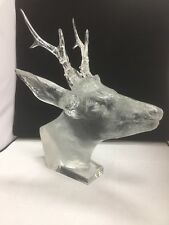 Rare BACCARAT French Crystal ROE DEER Chevreuil Stag Head France + Certificate