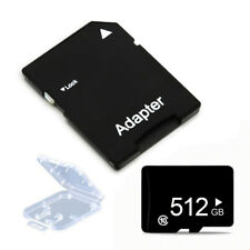 Class 10 512GB Micro SD Memory Card TF + Adapter Plastic Case for Phone Tablet