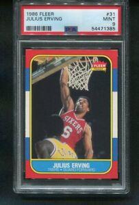 1986-87 Fleer JULIUS ERVING 76ers #31 PSA 9