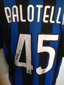 Maglia di Mario Balotelli ( Inter ) originale autografata per collezionisti