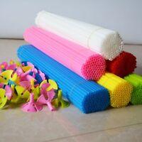 100 Random Colour Balloon Plastic Column+ 42 cm Stick Balloon Holder Party Decor
