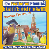 Feathered Phonics #9 CD: University 101 for Parakeets & Cockatiels - FREE PERCH