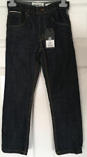 New with Tags DENIM 73 Boys Blue JEANS age 8 yrs - adjustable waist -free post!!