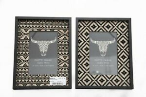 Scandi boho Aztec Tribal Photo Frames 4x6