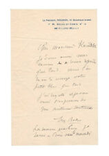 Auguste Rodin Autograph Letter - Authentic - Sharp - The Best for Less!