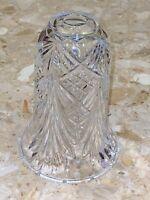 "VINTAGE ART DECO CRYSTAL GLASS CHIMNEY HURRICANE LAMP SHADE GLOBE 8x6"""