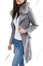 Manteaux et vestes gris en laine mélangée pour femme taille 44