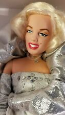 "New 1993 Dsi Marilyn Monroe 12"" Vinyl Doll ~ Silver Gown Diamond Dazzle w/ Coa"