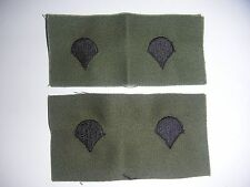 New US Army SPC (E-4) Subdued Rank Patch Set (Sew On Type) - (#651)