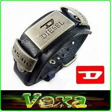 New DIESEL Leather Bracelet Navy Blue Bangle Wristband Men's Women's Surfer BD04