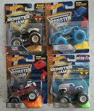 Hot Wheels Monster Jam Lot, Grave Digger, Bone Shaker, Shark Wreak, Blue Thunder
