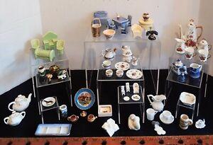 Antique & Vintage Ceramic & Porcelain Dollhouse Furniture & Accessories