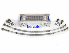 Universal Motorcycle Oil Cooler Radiator & CNC Plate cooling 110CC-200CC New