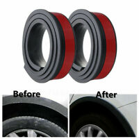 2pcs 1.5M*3.8cm Rubber Car Wheel Arch Protection Moldings Mud Guard Door Trim *2