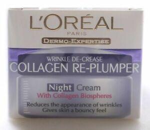 L'Oreal Wrinkle De-Crease Collagen Re-Plumper Night Cream 50 ml