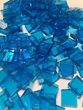 """1/2"""" AQUA BLUE Stained Glass Mosaic Tiles (100 PIECES)"""