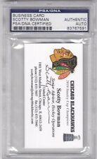 SCOTTY BOWMAN CHICAGO BLACKHAWKS BUSINESS CARD PSA/DNA AUTO AUTOGRAPH 2010 CHAMP